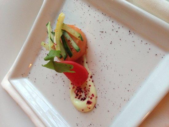 Hob Nob Restaurant : The salmon sample