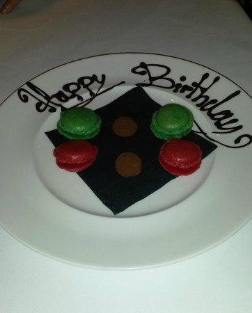 Drakes Hotel Brighton: Birthday treat from the restaurant team