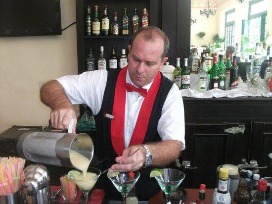 Hotel E Velasco: making a coctail