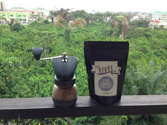 The Elkan Terrace: Coffee in the morning with a beautiful view