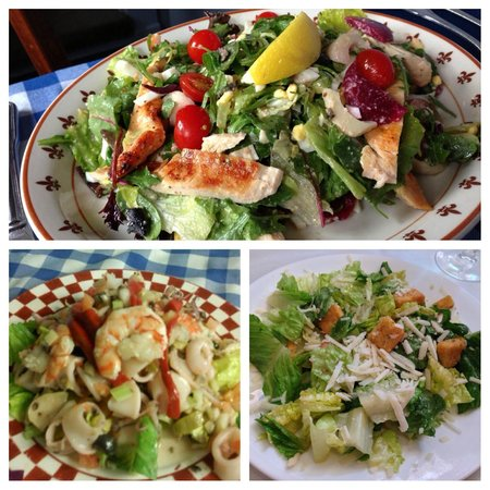 Charlotte's Web: Fresh salads are always available, and unbelievably delicious.