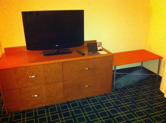 Fairfield Inn & Suites Dallas DFW Airport North/Irving: TV da sala