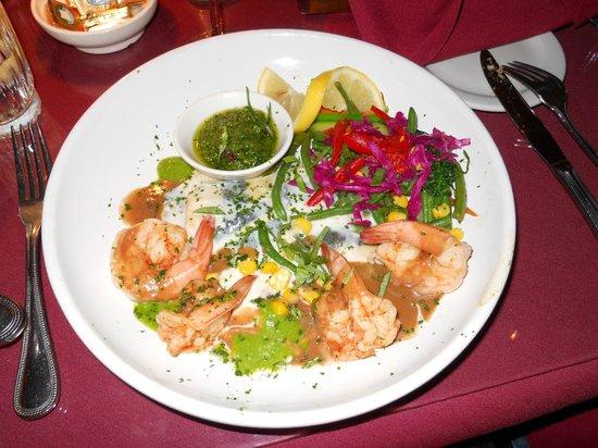 Cafe Roka: Grilled shrimp and lobster ravioli