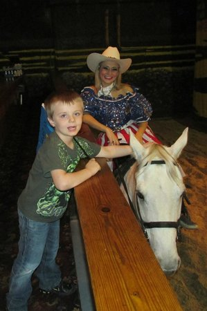 Dixie Stampede Dinner & Show: Petting the horse