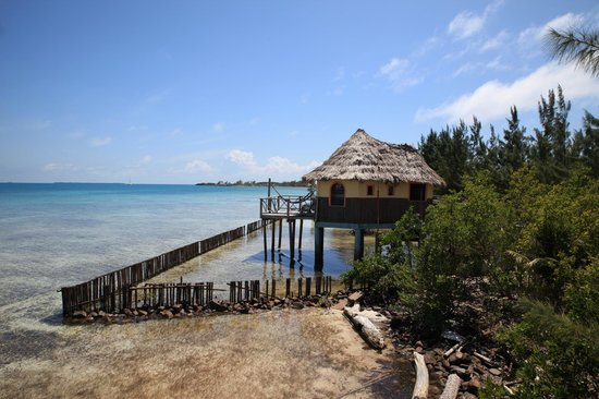 Thatch Caye Resort: Lovely cabin over water