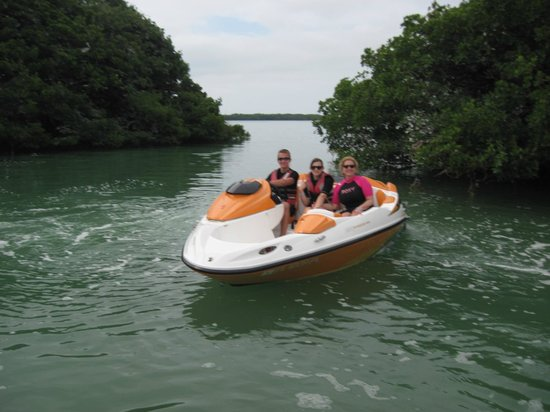 Spray Watersports: 16 year old driving the Sea Doo Speedster.  Was GREAT!