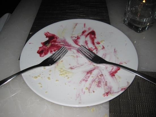 Hawksworth Restaurant : After, messy plate.