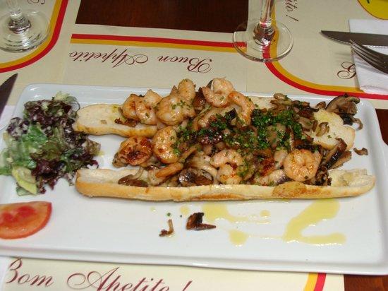 Viva Ro : Na Baguete ( camarão com shitake )