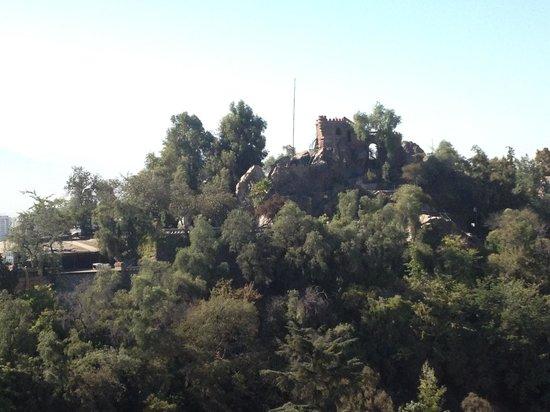 Amistar Apart-Hotel: Vista do 19o andar do Amistar para o Cerro Santa Lúcia
