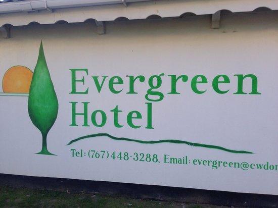 Evergreen Hotel: Signage