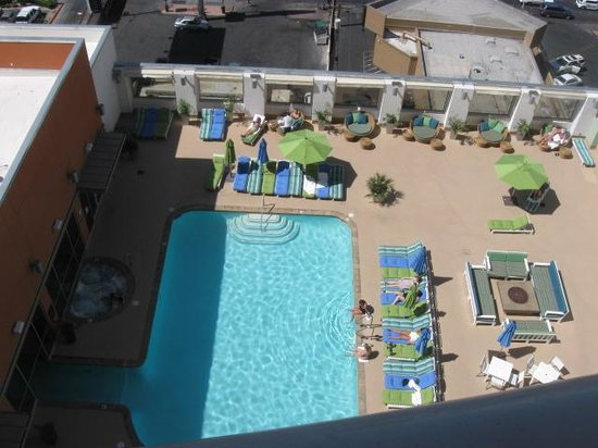 Platinum Hotel and Spa: View of pool from room 1117