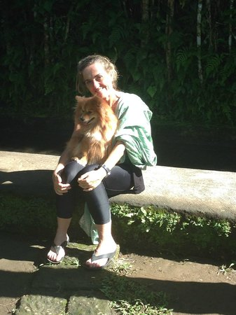 Sharing Bali: Karen and faithful companion Cantik