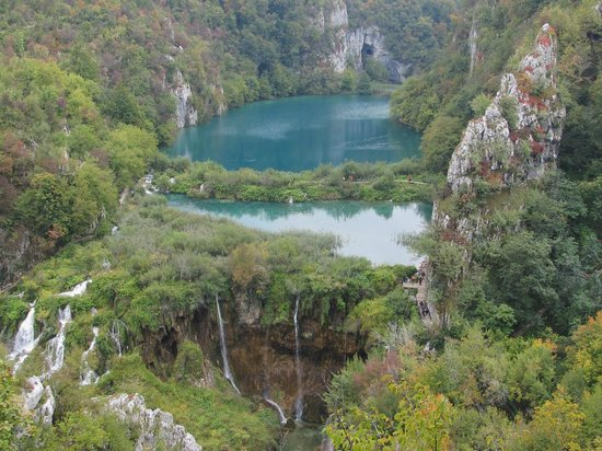 Plitvice Lakes National Park : climbing to top
