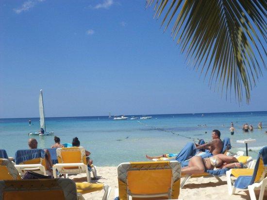 Viva Wyndham Dominicus Beach: Playa al bajar de mi habitación