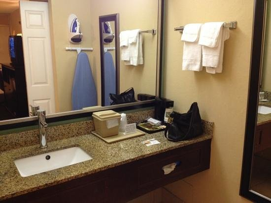 Days Inn Fort Lauderdale Airport North Cruise Port: large vanity with modern sink and faucet