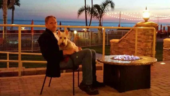 SeaCrest OceanFront Hotel : hot dog on patio