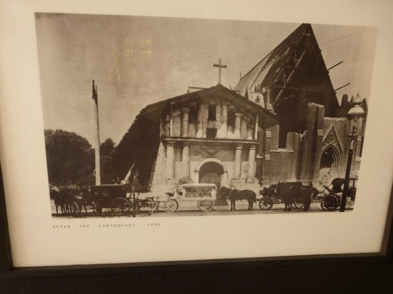 Mission Dolores: 1906: the original mission survived; the basilica did not