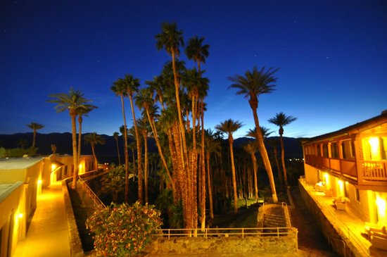 Furnace Creek Inn and Ranch Resort: view from room at dusk