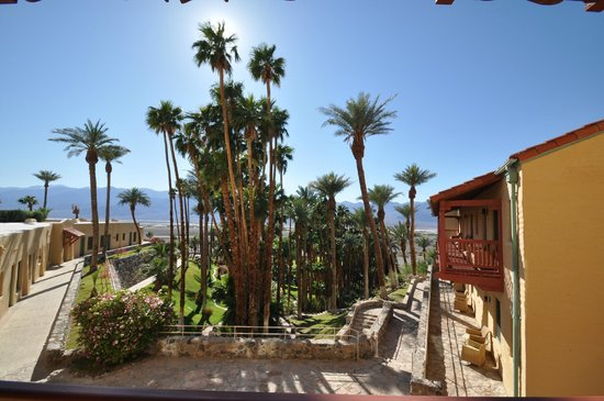 Furnace Creek Inn and Ranch Resort: view from room late afternoon