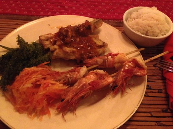 Kalui Restaurant : Fresh prawn with rice