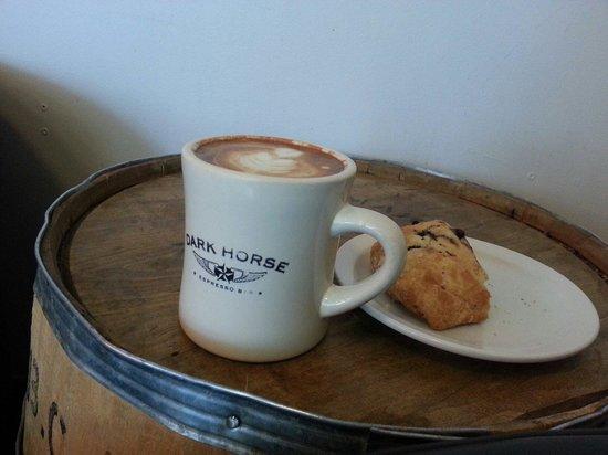 Dark Horse Espresso Bar: Artfully crafted soy latte