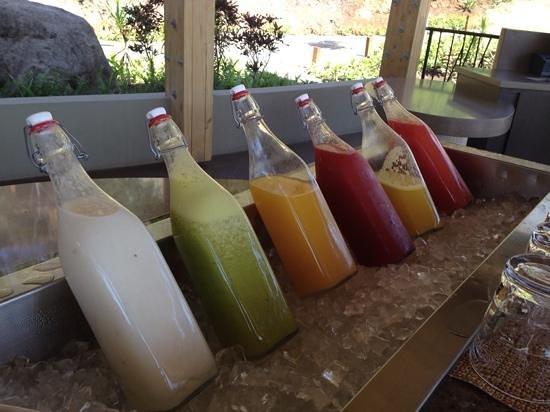 Andaz Peninsula Papagayo Resort : fresh juice at breakfast