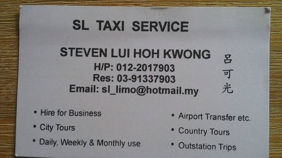 PARKROYAL Kuala Lumpur: Steven Taxi Driver