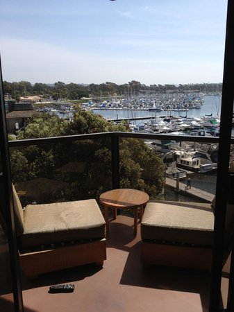 Hyatt Regency Mission Bay : Deck and sitting area off of living room