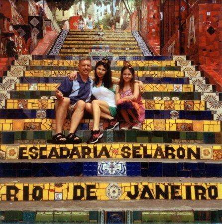 Luis Darin Tour Guide In Rio: Selaron Tile Pic