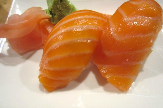 Sake (salmon) nigiri - Picture of Sushi King, Sacramento ...