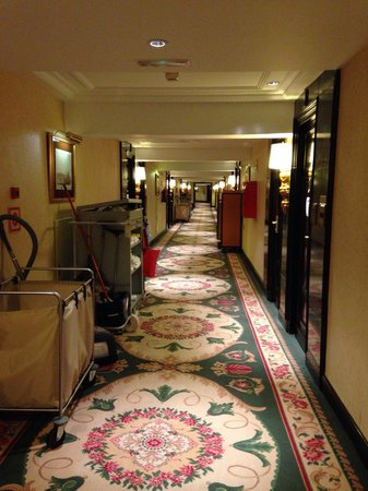 The Westin Palace Madrid: Unfortunetely the halls were always full of cleaning cars. All the time