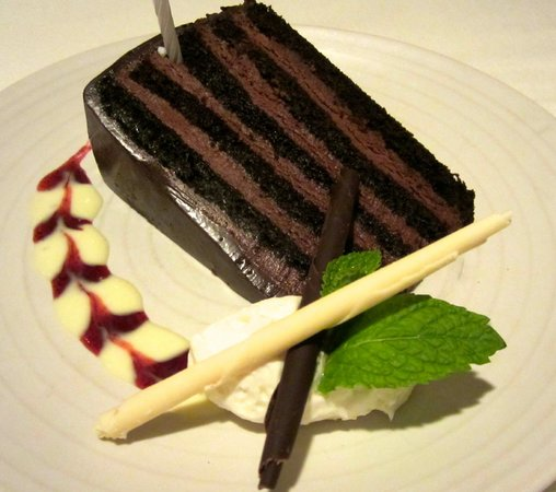 Dawson's Steakhouse: Four-layer chocolate cake