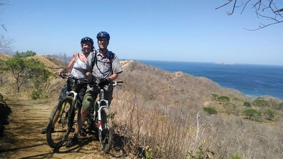 Pura Vida Ride: Single Track Bike Trail with Catalina Islands in background