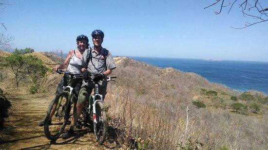 Pura Vida Ride : Single Track Bike Trail with Catalina Islands in background