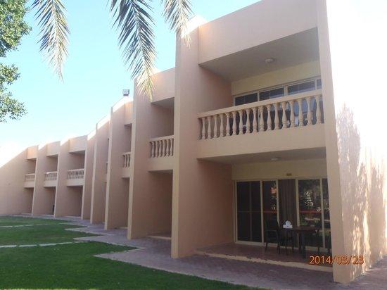 Bin Majid Beach Resort : это терраса нашего номера 331