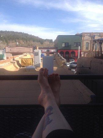 Red Garter Inn : The view from Big Bertha's balcony.