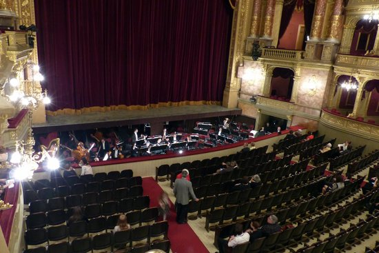 Hungarian State Opera House (Magyar Allami Operahaz) : View of the stage from box seats