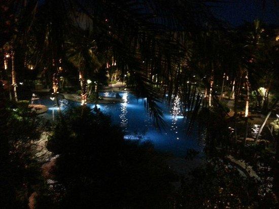 Tahiti Village: Beautiful Night Photo From Room Balcony