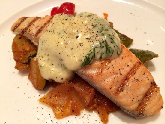 Saffron: Grilled salmon