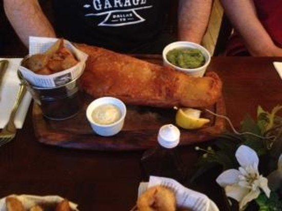 The Golden Fleece Inn: Fish & Chips (small whale & chips!)