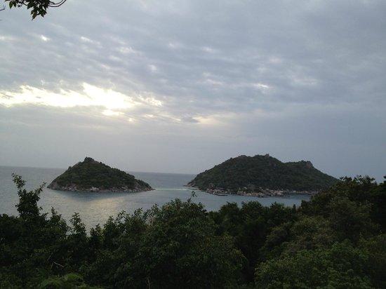 Dusit Buncha Resort : เกาะนางยวน...ยามเย็น จากระเบียงห้อง