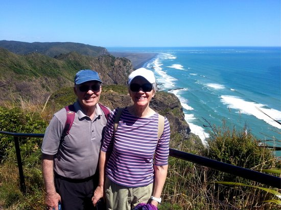Te Huia Tours: Hans 77  & Heidi 69 years old  from Germany
