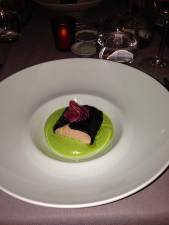 Chamois D'Or Hotel & Spa : Salmon course from the degustation menu