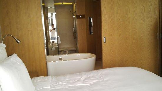 Renaissance Hong Kong Harbour View Hotel : view ke kamar mandi