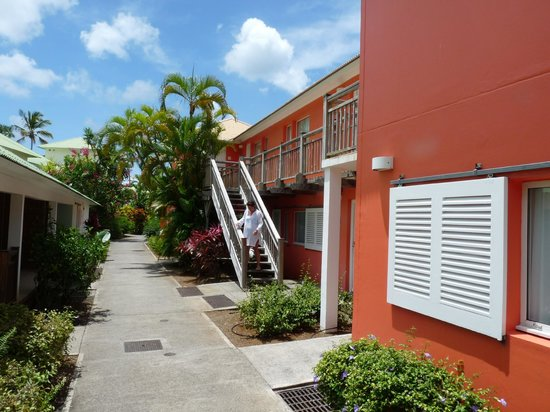 Club Med Les Boucaniers : Les accès aux chambres