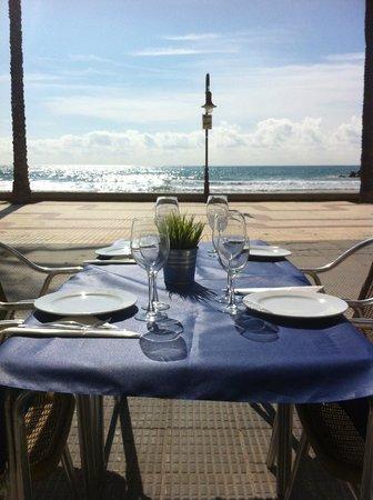 Cubelles, Spanien: Les vistes desde el restaurant EL PEIXET