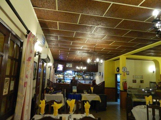 The Blue Sky: inside the restaurant