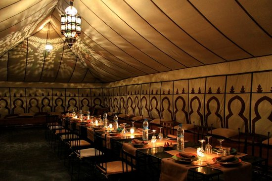 Terre Des Etoiles: The dinner tent