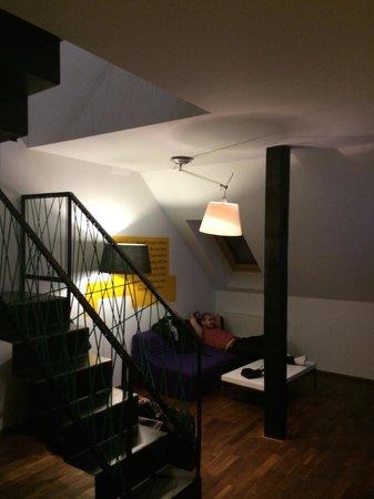 MOODs Boutique Hotel : Living room - Suite