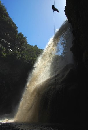 Eden Adventures : Abseiling at Kaaimans waterfall